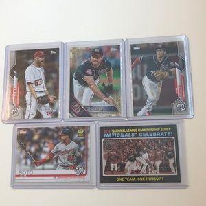 Lot of 5 Washington National Topps Baseball Cards
